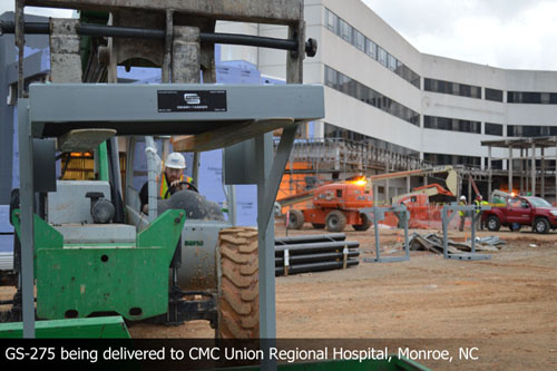 GS-275 being delivered to CMC Union Regional Hospital, Monroe, NC