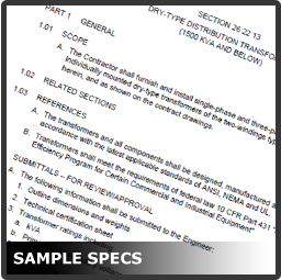 Sample Specifications Link